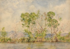 "Tuke, Henry Scott, RA RWS (1858-1929): Black River, Jamaica, signed and dated 1924, inscribed Bottom left ""Black River, Jamaica H.S.Tuke 1924"", watercolour, 26 x 36 cms. RCPS Tuke Collection. Loan."