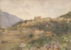 Tuke, Henry Scott, RA RWS (1858-1929): Riviera Village (near Mentone), signed and dated 1904, watercolour, 26.5 x 36.6 cms. RCPS Tuke Collection. Loan.