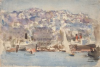 Tuke, Henry Scott, RA RWS (1858-1929): Algiers, signed and dated 1925, Inscribed Algiers bottom left, watercolour, 17.9 x 26 cms. RCPS Tuke Collection. Loan.