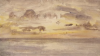 Tuke, Henry Scott, RA RWS (1858-1929): Sunrise from Swanpool, signed and dated 1910, inscribed S.Tuke bottom right and dates 1910., watercolour, 11.5 x 20.3 cms. RCPS Tuke Collection. Loan.