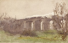 Tuke, Henry Scott, RA RWS (1858-1929): Harwell Viaduct GWR, signed, watercolour, 13.6 x 21.5 cms. RCPS Tuke Collection. Loan.