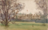 Tuke, Henry Scott, RA RWS (1858-1929): Castle, watercolour, 13.5 x 21.2 cms. RCPS Tuke Collection. Loan.