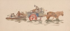 Tuke, Henry Scott, RA RWS (1858-1929): Cart and Boat, Inscribed WITH ALL GOOD WISHES FROM ANTOINETTE AND GEOFFREY SAINSBURY Christmas 1966, watercolour, 10 x 21.9 cms. RCPS Tuke Collection. Loan.