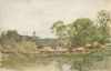 Tuke, Henry Scott, RA RWS (1858-1929): Livingston, Guatemala, Central America, signed and dated 1924, Inscribed Livingston, Guatemala C.A, watercolour, 14.2 x 21.9 cms. RCPS Tuke Collection. Loan.