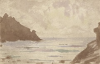 Tuke, Henry Scott, RA RWS (1858-1929): Seascape, signed and dated 1902, inscribed A Happy New Year 1902 from H.S.T, watercolour, 10 x 15.5 cms. RCPS Tuke Collection. Loan.