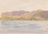 Tuke, Henry Scott, RA RWS (1858-1929): Coastal Scene, signed and dated 1925, watercolour, 12.6 x 17.8 cms. RCPS Tuke Collection. Loan.