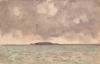 Tuke, Henry Scott, RA RWS (1858-1929): Turk's Island, signed and dated 1923, watercolour, 12.6 x 17.8 cms. RCPS Tuke Collection. Loan.