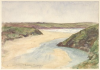 Tuke, Henry Scott, RA RWS (1858-1929): River Gannel, Newquay, inscribed River Gannel from de P's estate, Newquay bottom left, watercolour, 17.5 x 25.4 cms. RCPS Tuke Collection. Loan.