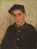 Tuke, Henry Scott, RA RWS (1858-1929): Head of William J. Martin, signed and dated 1890, oil on wood panel, 27.3 x 20.9 cms. RCPS Tuke Collection. Loan.