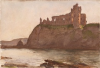 Tuke, Henry Scott, RA RWS (1858-1929): Tantallon Castle, signed and dated 1891, watercolour, 17.5 x 25.5 cms. RCPS Tuke Collection. Loan.