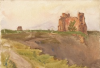 Tuke, Henry Scott, RA RWS (1858-1929): Tantallon, signed and dated 1891, inscribed Tantallon bottom left, watercolour, 17.5 x 25.5 cms. RCPS Tuke Collection. Loan.