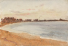 Tuke, Henry Scott, RA RWS (1858-1929): North Berwick, signed and dated 1891, watercolour, 17.5 x 25.5 cms. RCPS Tuke Collection. Loan.