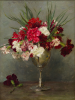 Tuke, Henry Scott, RA RWS (1858-1929): Carnations, signed and dated 1890, oil on panel, 35.6 x 26 cms. RCPS Tuke Collection. Loan.