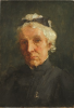 Tuke, Henry Scott, RA RWS (1858-1929): Sketch for Portrait of Esther Maria Tuke, oil on wood panel, 13.7 x 21.5 cms. RCPS Tuke Collection. Loan.