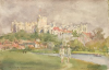 Tuke, Henry Scott, RA RWS (1858-1929): Windsor, signed and dated 1902, inscribed H.S.T. Windsor, May 1902, watercolour, 14 x 21.4 cms. RCPS Tuke Collection. Loan.