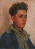 Tuke, Henry Scott, RA RWS (1858-1929): Portrait of Youth, oil on wood panel, 33 x 24 cms. RCPS Tuke Collection. Loan.