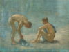 Tuke, Henry Scott, RA RWS (1858-1929): Study for Aquamarine, oil on laid down canvas, 25 x 33.5 cms. RCPS Tuke Collection. Loan.