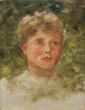 Tuke, Henry Scott, RA RWS (1858-1929): Head of Colin Goodwyn, oil on canvas board, 34.2 x 26.5 cms. RCPS Tuke Collection. Loan.