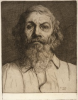 Tuke, Henry Scott, RA RWS (1858-1929): Portrait of an Old Man, dated 1879, etching, 22.5 x 18.7 cms. RCPS Tuke Collection. Loan.