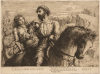 Tuke, Henry Scott, RA RWS (1858-1929): La Belle Dame Sans Merci, dated 1879, inscribed H. S. Tuke d. 1879, etching, 14.9 x 20 cms. RCPS Tuke Collection. Loan.