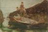 Tuke, Henry Scott, RA RWS (1858-1929): Sketch for the Swimmer's Pool, oil on panel, 24.2 x 35.9 cms. RCPS Tuke Collection. Loan.