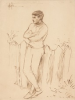 Tuke, Henry Scott, RA RWS (1858-1929): Johnnie Jackett, signed and dated 1904, inscribed H.S.T. Oct.12.1904, pen and ink on paper, 25 x 18.7 cms. RCPS Tuke Collection. Loan.