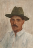 Tuke, Henry Scott, RA RWS (1858-1929): Gill, our Fisherman, signed and dated 1924, Inscribed Gill our fisherman. Belize. B.H., watercolour, 26 x 18 cms. RCPS Tuke Collection. Loan.