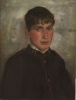 Tuke, Henry Scott, RA RWS (1858-1929): Portrait of William J. Martin, inscribed April 25 1890, oil on panel, 34.8 x 26.4 cms. RCPS Tuke Collection. Loan.
