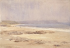 Tuke, Henry Scott, RA RWS (1858-1929): The Sands, Porthleven, signed and dated 1923, inscribed H.S. Tuke 1923, watercolour, 17.8 x 26 cms. RCPS Tuke Collection. Loan.