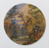 Fox, Anna Maria (1816-1897): Penjerrick, watercolour and gouache, 16.5 diameter. Donation.