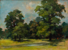 Bridger-Chalker, Jack RWA RBA (1918-2014): Landscape with Stream, signed and dated 1995, oil on board, 31 x 41 cms. Donation.
