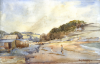 Beer, Sidney James (1875-1952): Maenporth, signed, watercolour, 19 x 28.5 cms. Presented by Spencer, Chris. Donation.